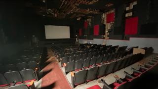 Inside the Beach Theatre at St. Pete Beach, Florida.
