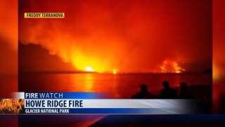 Howe Ridge Fire in Glacier National Park (Saturday update)