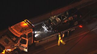 One person died when their SUV crashed into a creek in Antioch