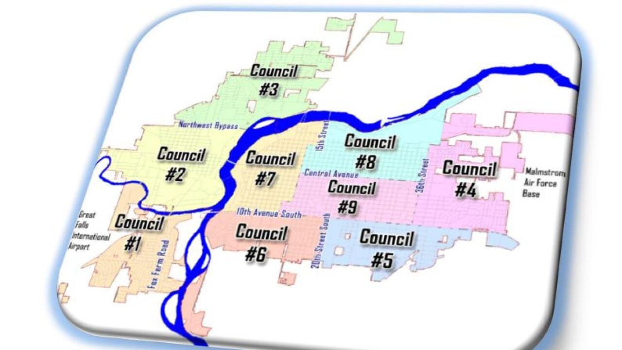 Great Falls Neighborhood Councils (Map)