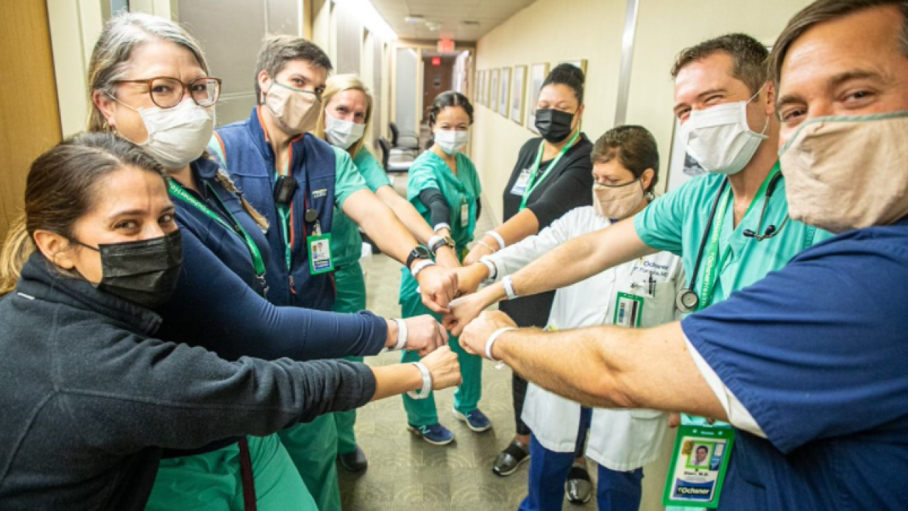 Courtesy photo by Christine Rigamer of Hospital Medicine team at OMC-Jeff Hwy.