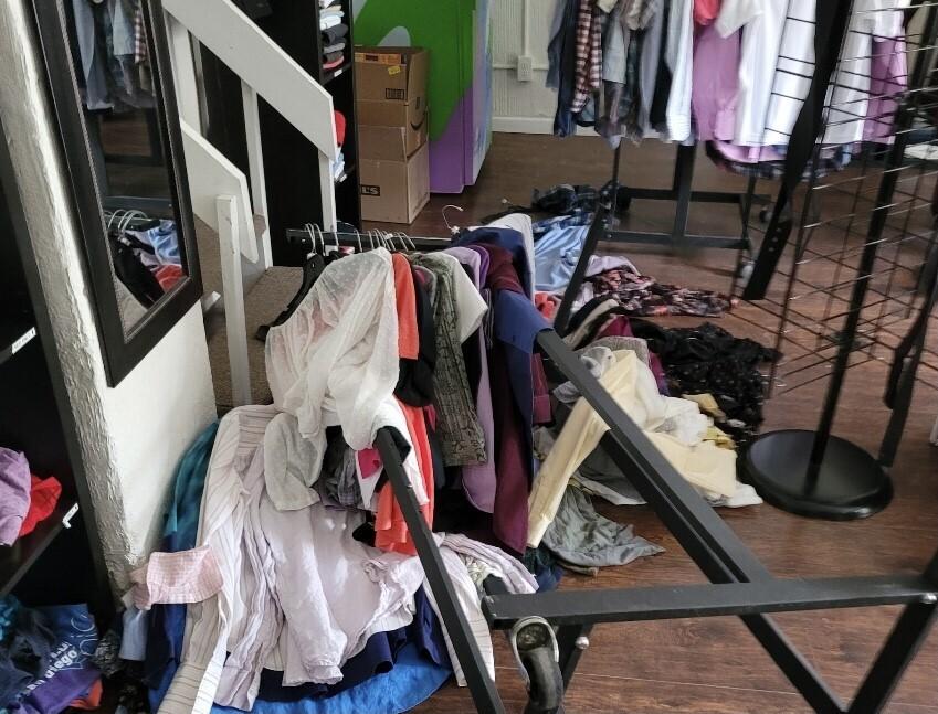 Damage inside store