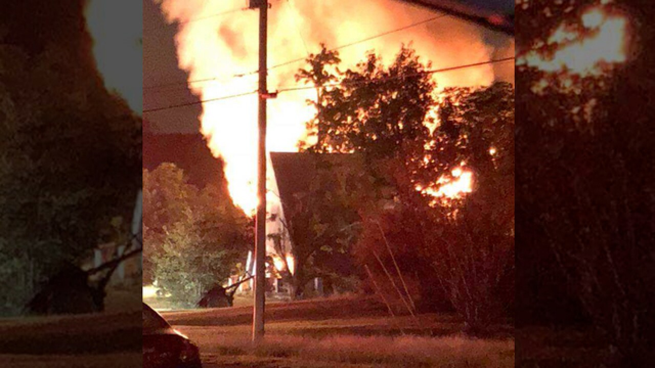 Crews Fight Large House Fire In Madison