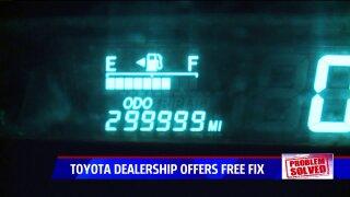 Toyota dealership offers free fix for man's odometer after Problem Solversreport