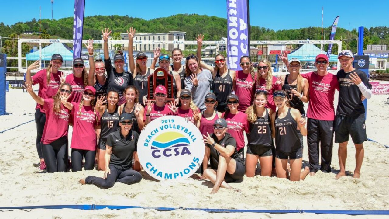Four in a Row: Beach Volleyball Captures Fourth Straight CCSA Title