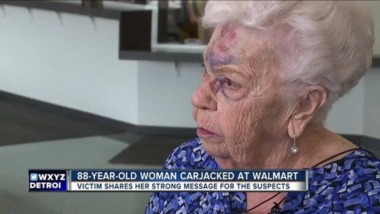 Couple charged in carjacking of 88 y.o. woman