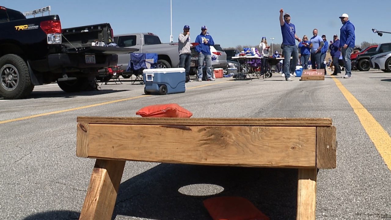 Royals fans tailgating