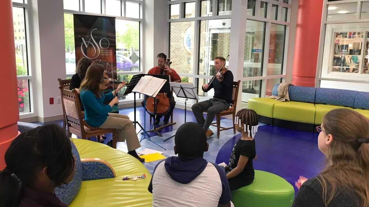 CHKD patients receive special performance by Virginia SymphonyOrchestra