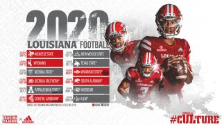 UL Lafayette 2020 football sched
