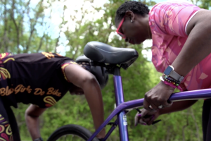"""Adina Crawford and Suzanne Webb met as part of the cycling group """"Black Girls Do Bike."""""""