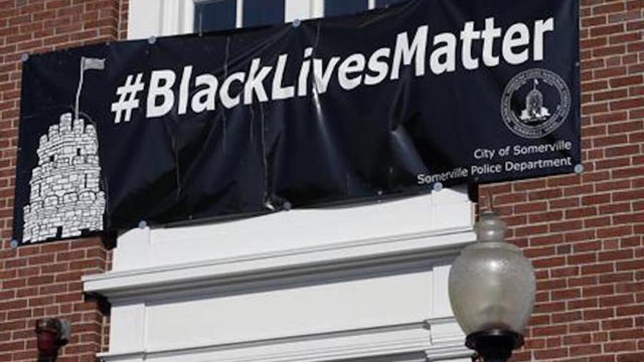 Black lives matter sign stays at Mass. city hall