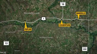 5 people dead in 3 crashes in northeastern Montana