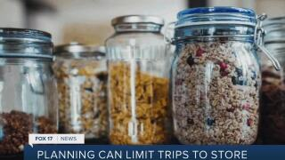 Planning can limit trips to the grocery store