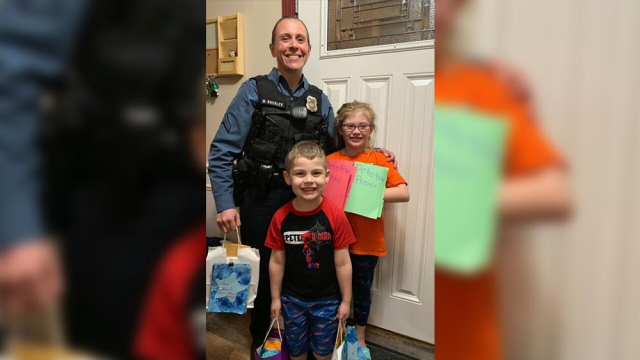 Abigail and Hayden with police