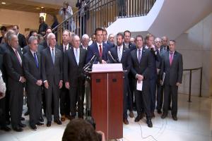 Republican lawmakers interrupt impeachment inquiry hearing