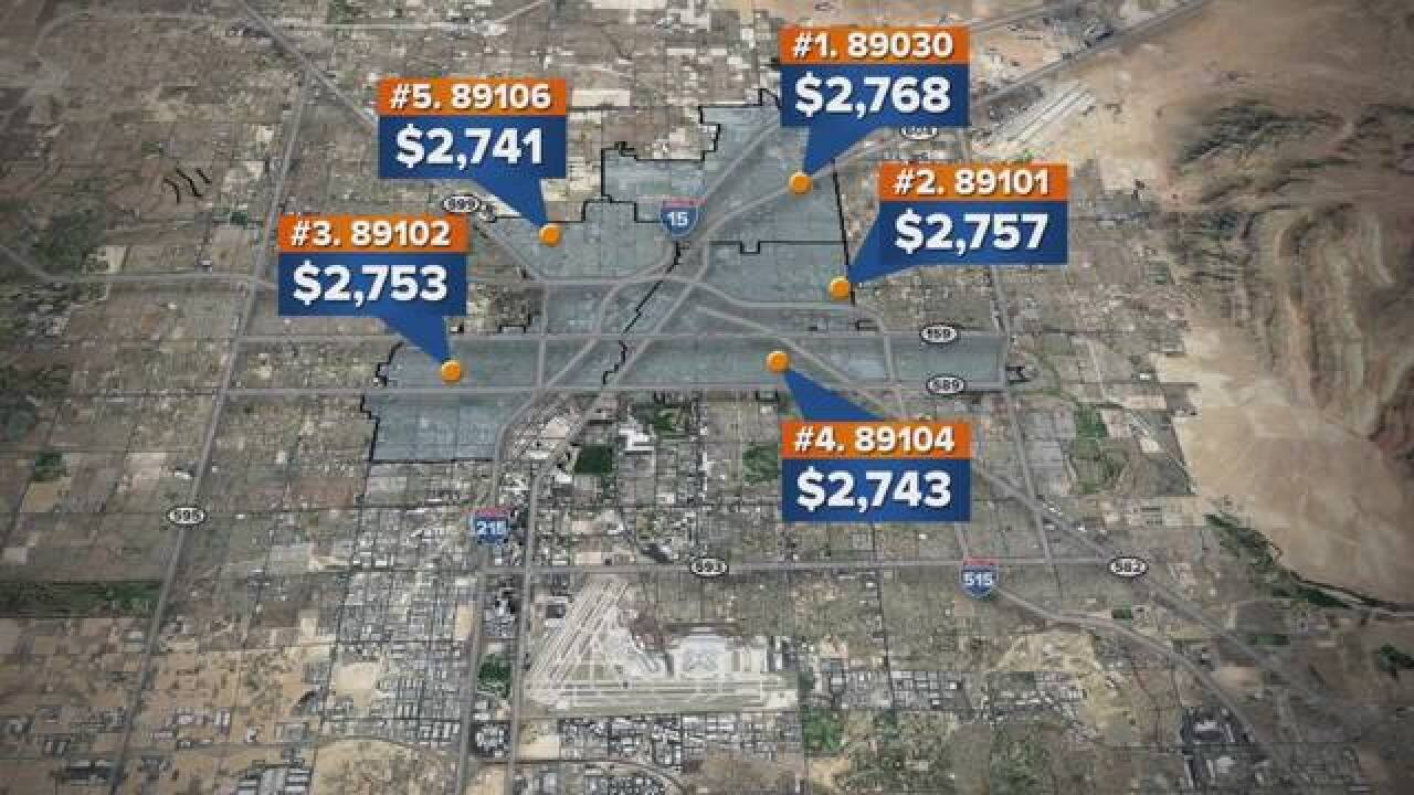 study car insurance rates in las vegas valley increased