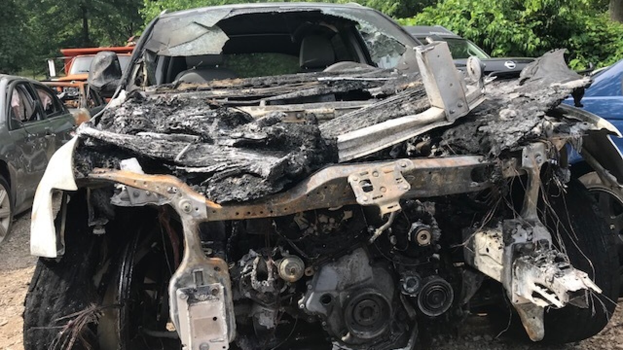 Ohio man says his car burst into flames