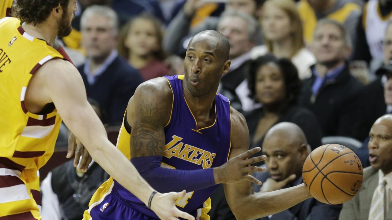 Kobe Bryant, Kevin Love, LeBron James