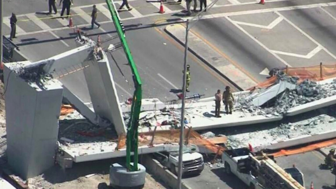 Bridge at FIU collapses; people trapped