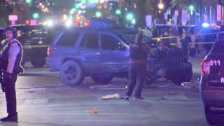 Minneapolis protest crash