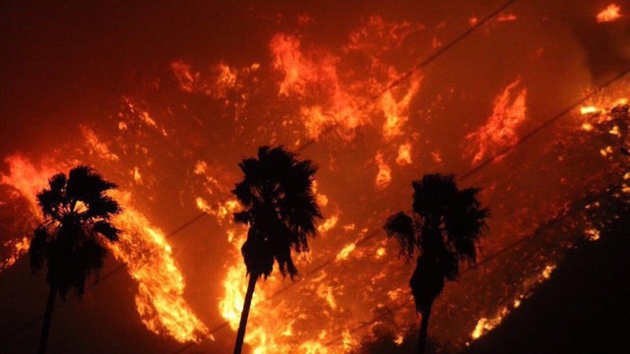 Santa Ana winds spur massive California fire