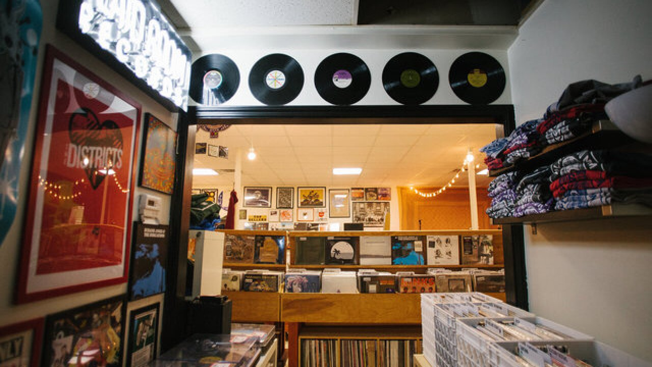 A vinyl record store just off the beaten path
