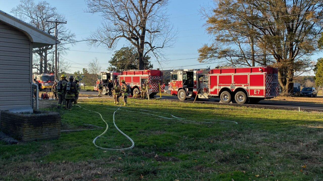 Family of three displaced after house fire in Chesapeake