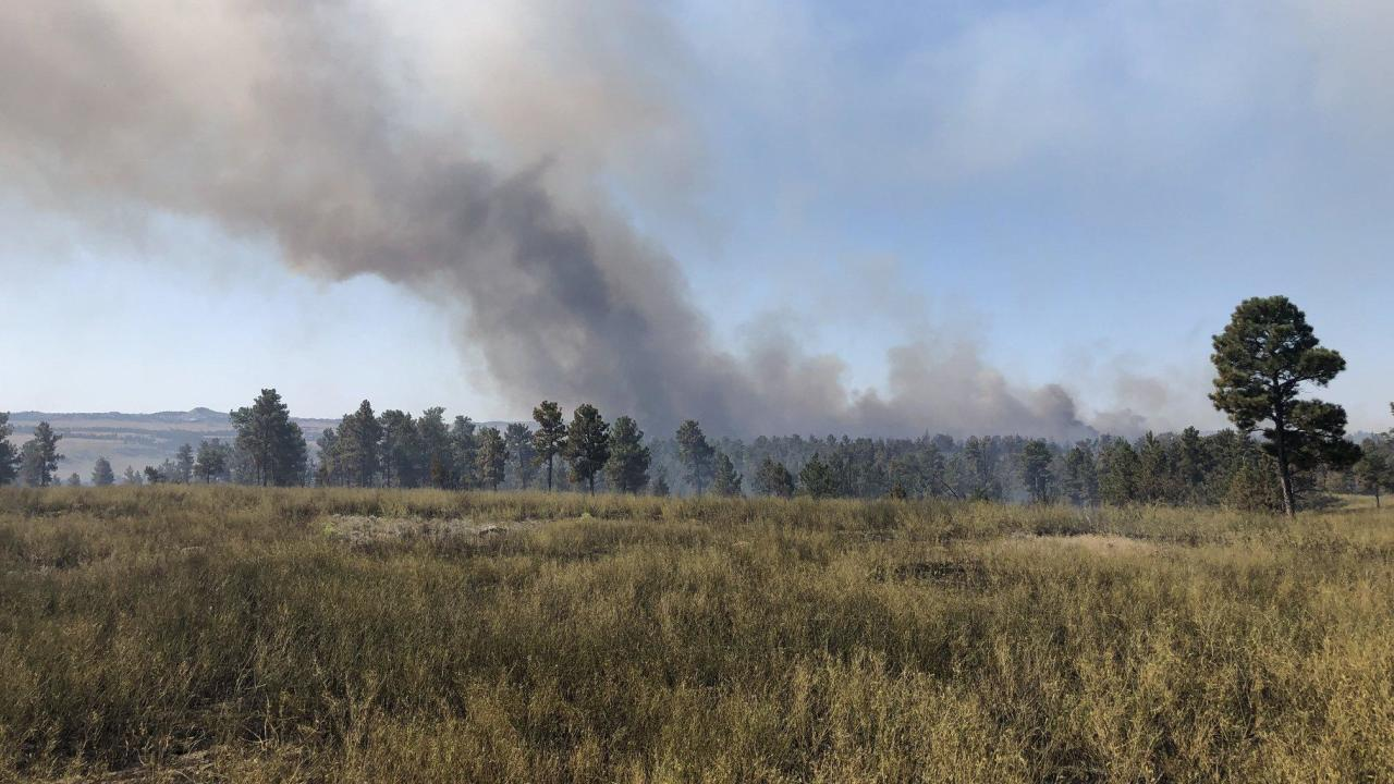 The Ridgetop Fire burning 35 miles north of Winnett is estimated at 9,794 acres and 30%t contained.