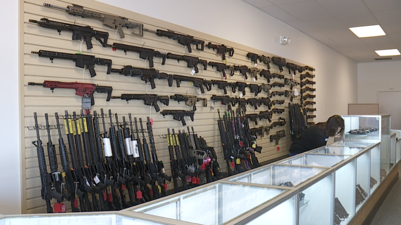 Gun store opens during stay at home order