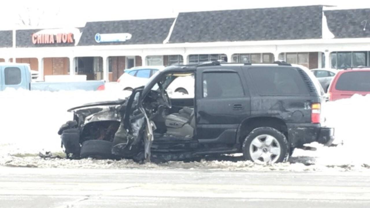 Multi-car accident involving NFTA bus on Grand Island Boulevard