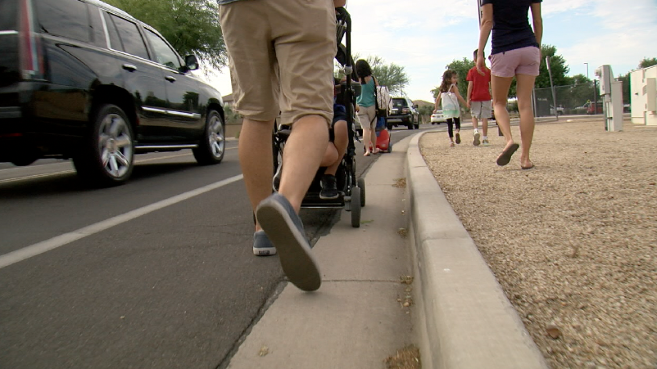 KNXV Operation Safe Roads Riggs Elementary Sidewalk