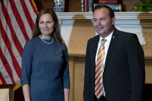 Supreme Court Barrett and Sen. Mike Lee