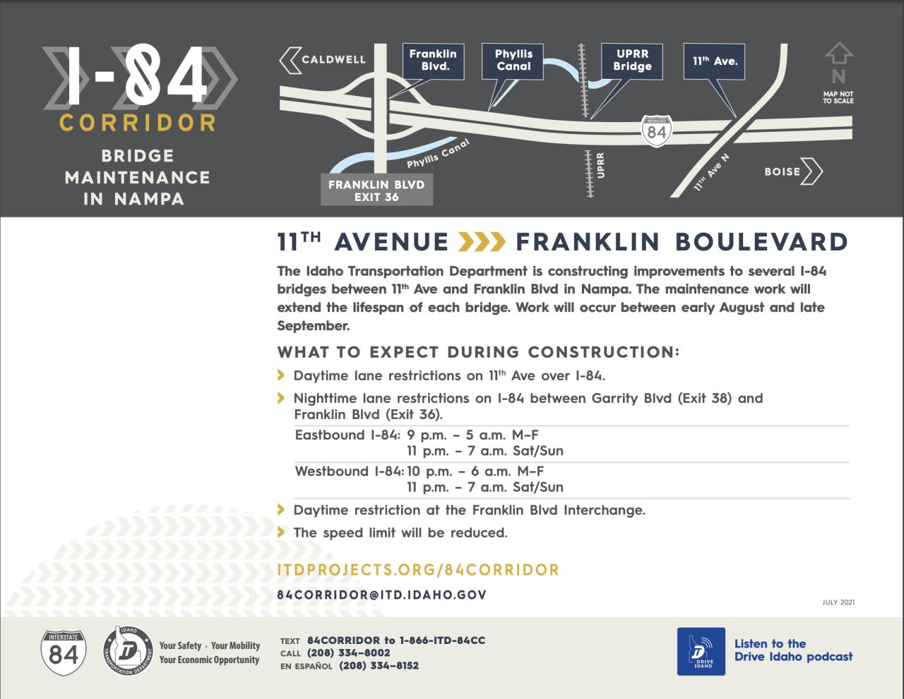 I-84 Corridor Projects