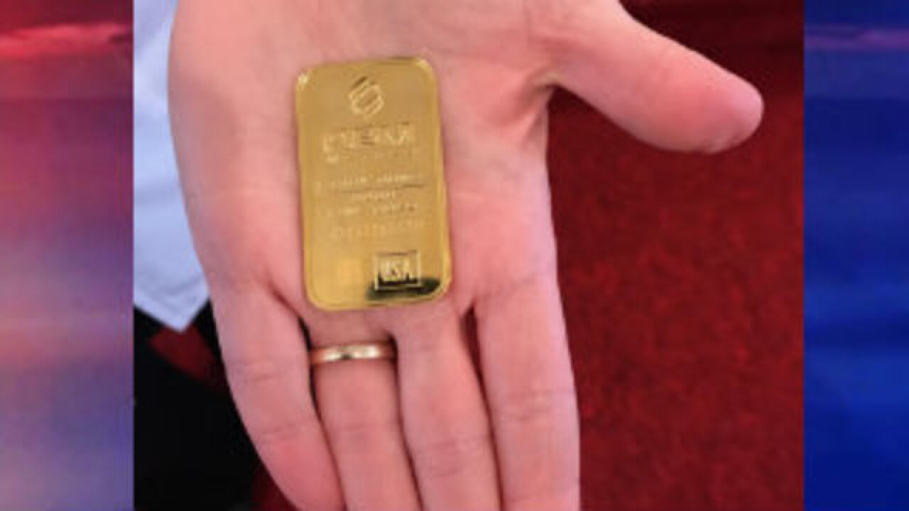 Gold bar found in Salvation Army donation kettle