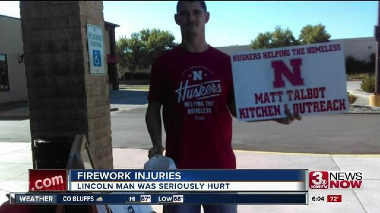 Lincoln man seriously injures hand in firework accident