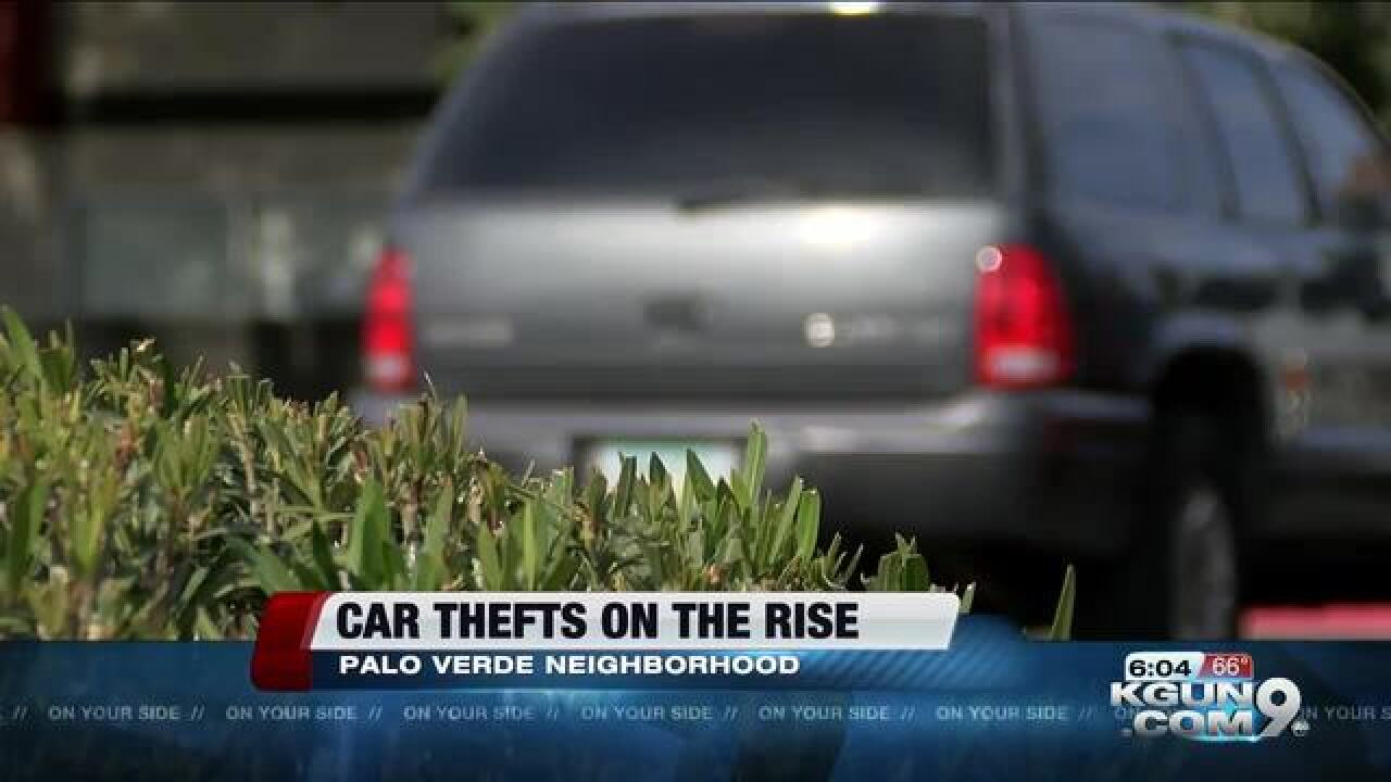 Car thefts on the rise in Midtown Tucson
