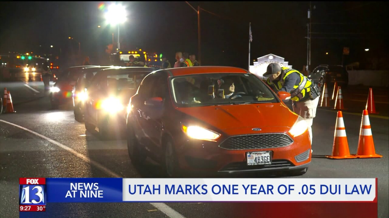 Utah marks one year with .05, the nation's toughest anti-drunk driving law