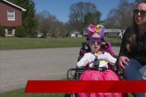 6-year-old marks birthday with a parade