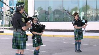Pipes and Drums at ECMC