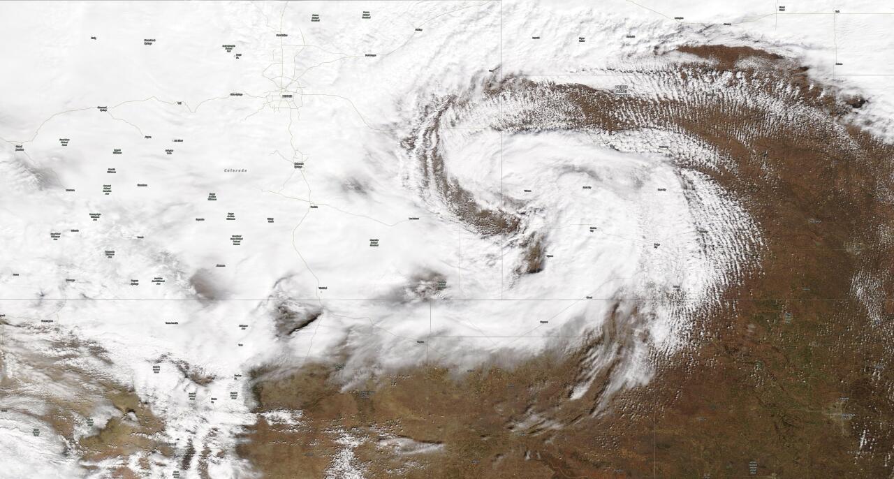 Bomb Cyclone Visible Satellite