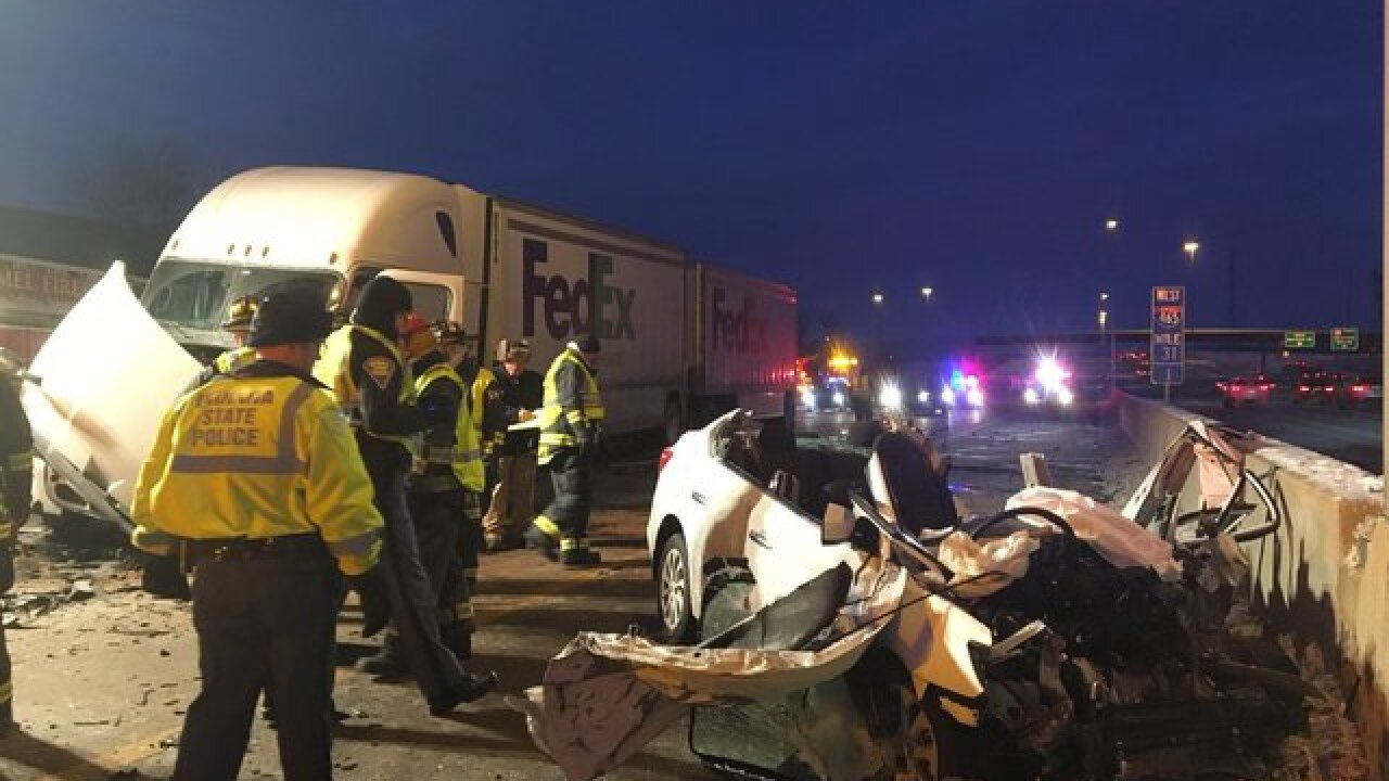 Person killed in head-on crash on I-465