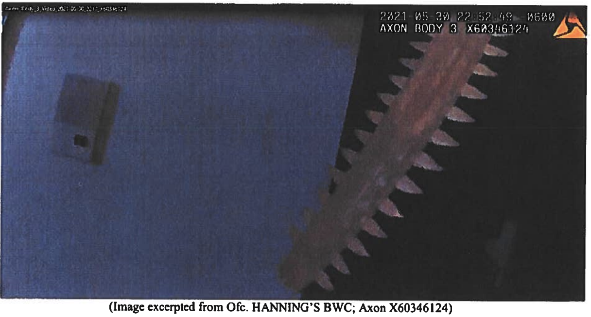 Idaho Springs PD Nicholas Hanning assault charge 1_sword