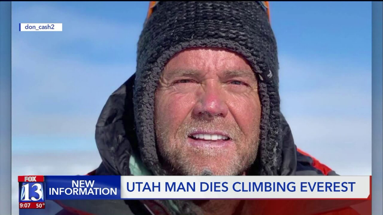 Climbing community mourns death of Utah man on Everest