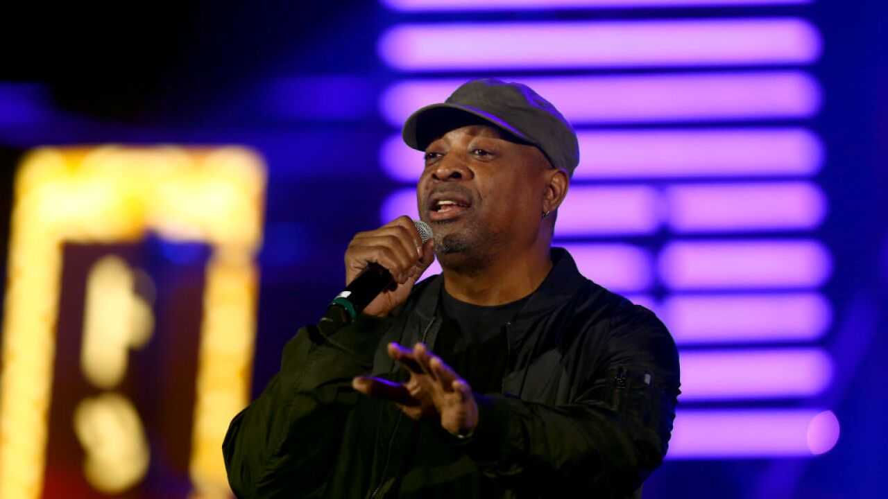 Chuck D performs onstage during Michael Muller's HEAVEN, presented by The Art of Elysium, on January 5, 2019 in Los Angeles, California. (Photo by Rich Polk/Getty Images for The Art of Elysium)