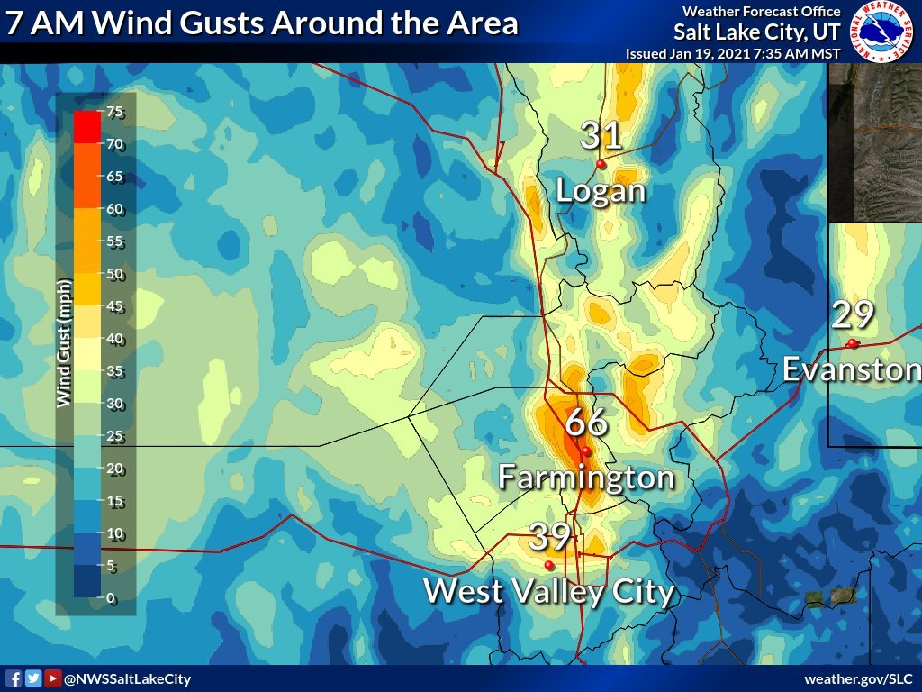 7 am Wind Gusts