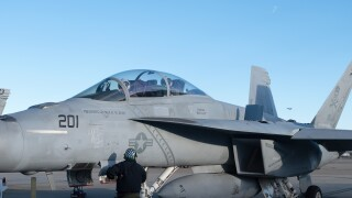 Photos: Jets from NAS Oceana in Virginia Beach head to Texas to honor George H.W. Bush