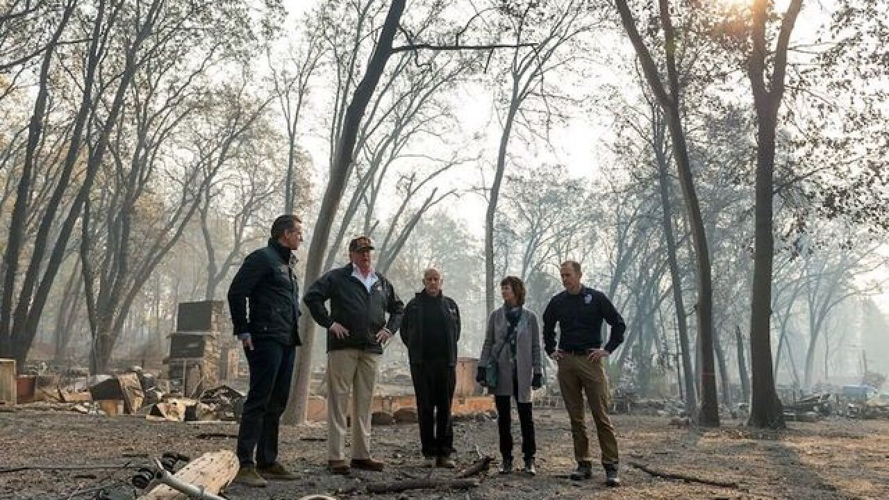 Asked about climate change, Trump says 'lot of factors' to blame for California wildfires