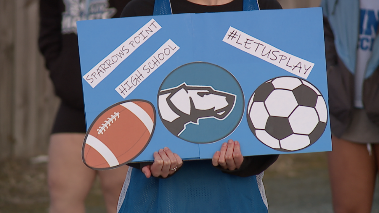 Baltimore County student-athletes held 'Let us play' rallies Wednesday in opposition to recent BCPS sports decision