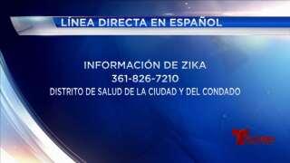 Línea directa en español sobre información del virus del zika
