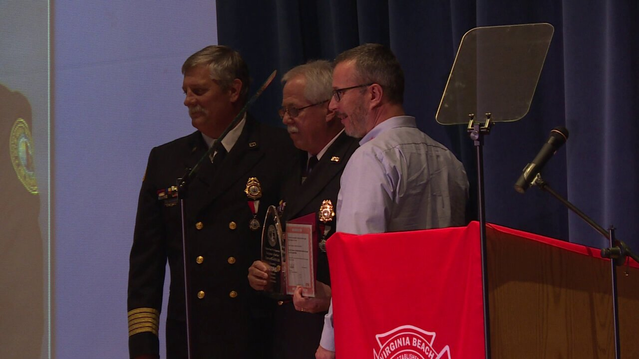 Virginia Beach's Firefighter of the Year receives standing ovation